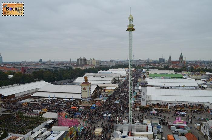 Oktoberfest Munchen vazut din Riesenrad - roata uriaşă (1)