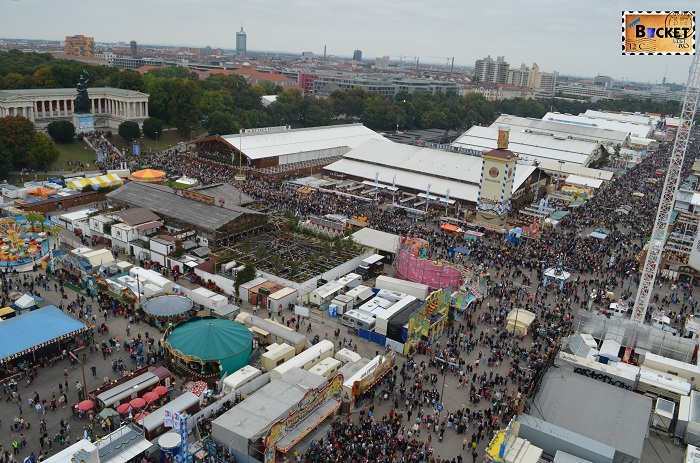 Oktoberfest Munchen vazut din Riesenrad - roata uriaşă (2)