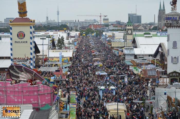 Oktoberfest vazut din roata uriaşă