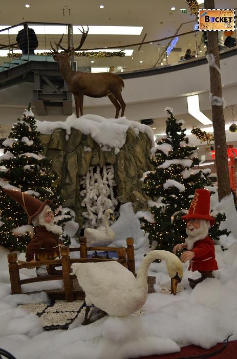 Peisaj de iarna la Mini târgul de Crăciun din Forum Debrecen