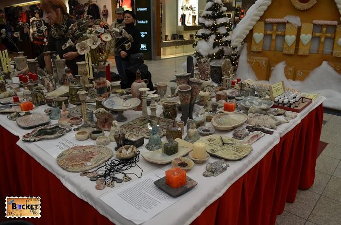 Produse din piatra la Mini târgul de Crăciun din Forum Debrecen