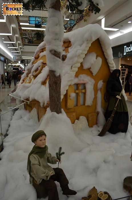 Casuta de turta dulce la Mini târgul de Crăciun din Forum Debrecen