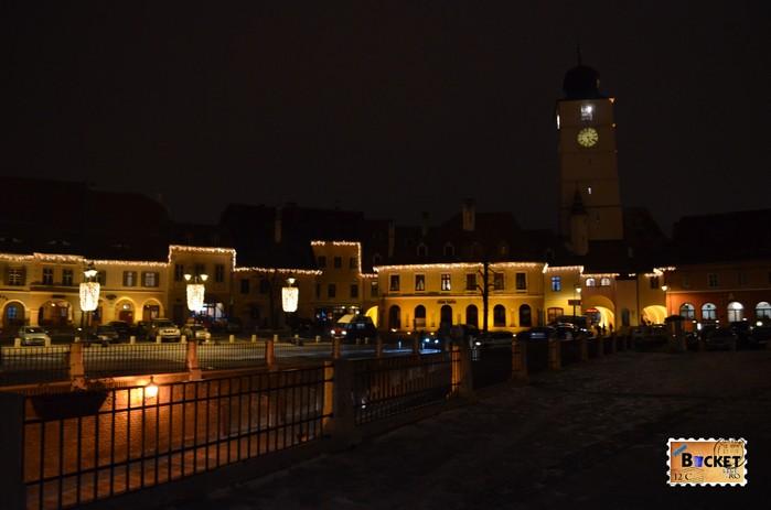 Piata Mica Sibiu si turnul Sfatului Sibiu