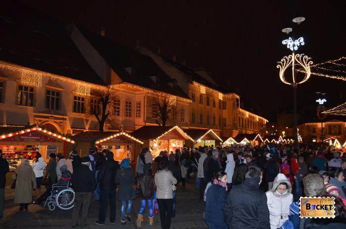 Targul de Craciun din Sibiu - prin targ