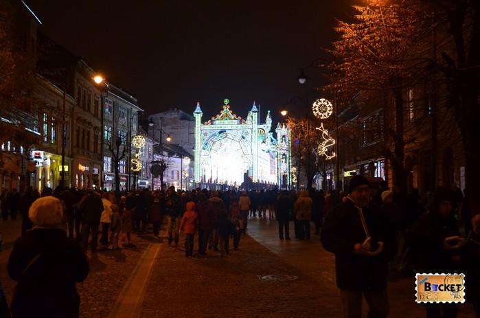Tunelul de lumini Sibiu - Lights and More Str Balcescu