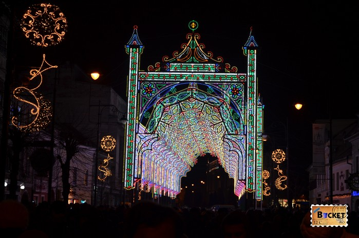 Tunelul de lumini Sibiu - Lights and More - 55000 led-uri