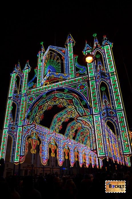 Tunelul de lumini Sibiu - Lights and More - intrare