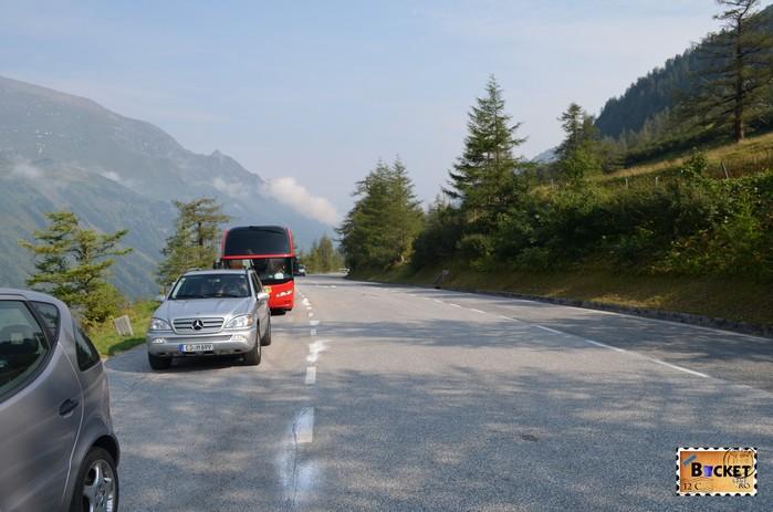 oprire pe drumul Grossglockner High Alpine Road - Cel mai frumos drum alpin din Austria ; Großglockner Hochalpenstraße;