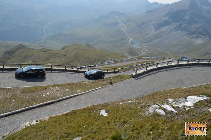 Drumul spre Edelweißspitze - vârful Edelweiss