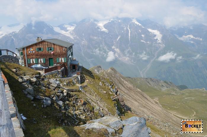 Edelweißhütte de pe Edelweißspitze - vârful Edelweiss