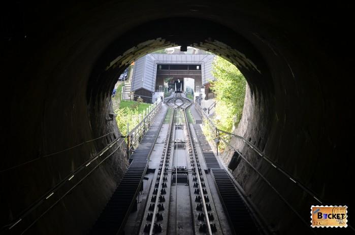 vedere din funicularul spre Hohensalzburg