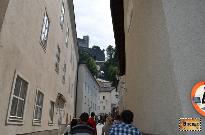 Funicularul spre castelul din Salzburg
