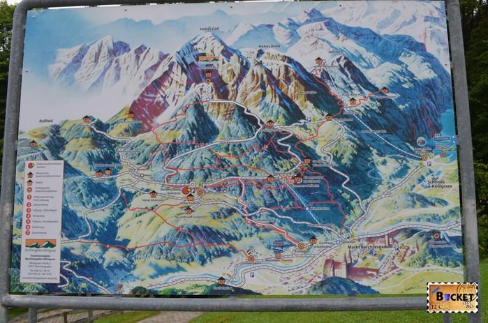 Harta informativa Berchtesgaden