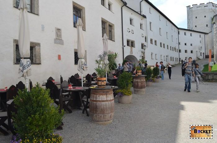 terasa in curtea interioara Castelul Hohensalzburg