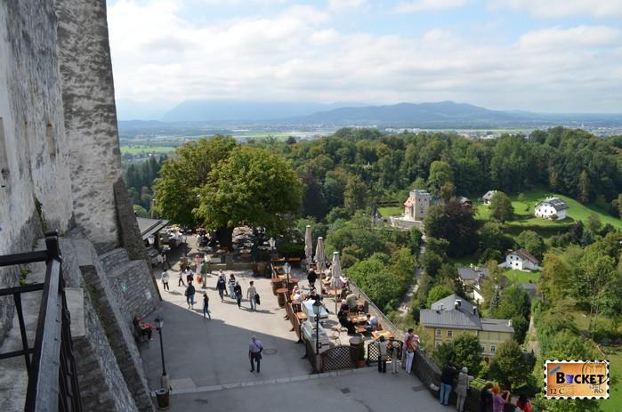 terasa de pe castelul din Salzburg