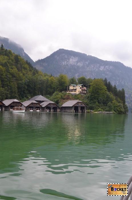 Lacul Koenigssee si Villa Beust din Schoenau am Konigssee