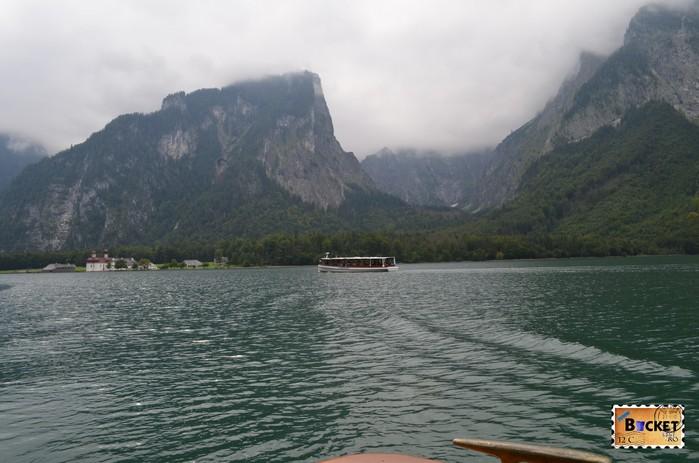 Lacul Konigssee şi muntele Watzmann