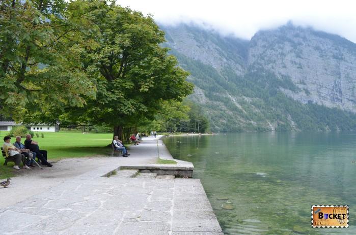 Lacul Konigssee langa mănăstirea Sf. Bartolomeu