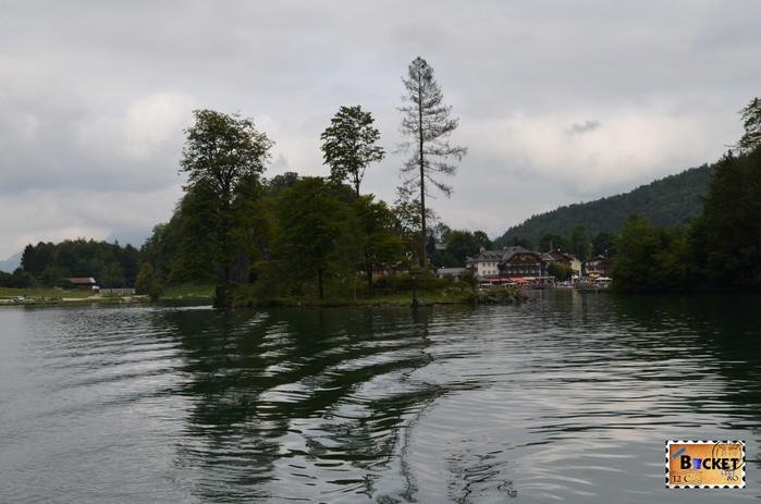 Lacul Konigssee si  insula Christlieger