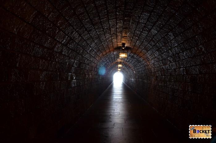 Tunel la iesirea din Cuibul de vulturi a lui Hitler - Eagle's Nest.