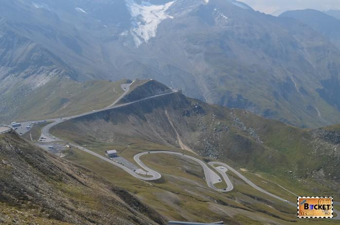 drumul Grossglockner vazut de pe vârful Edelweiss