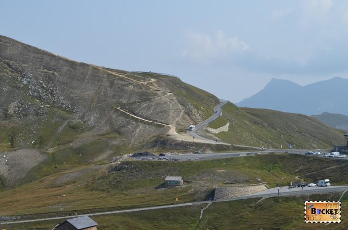 drumul spre Edelweißspitze din  Fuscher Törl - vârful Edelweiss de pe Grossglockner