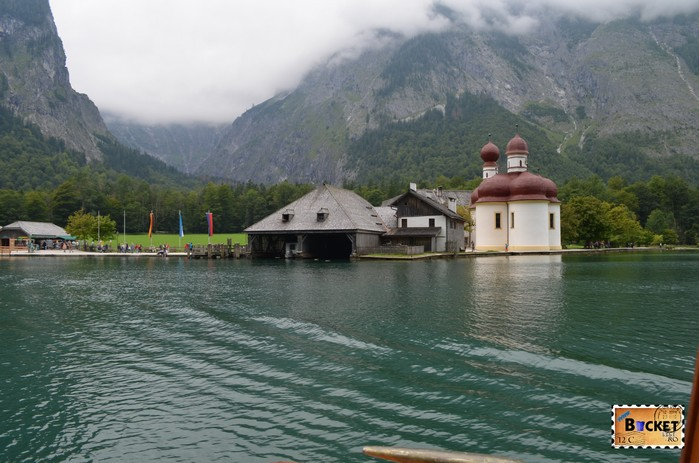 mănăstirea Sf. Bartolomeu (St. Bartholomä) si lacul Konigssee
