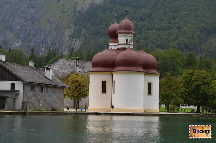 mănăstirea Sf. Bartolomeu si lacul Konigssee
