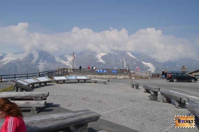 parcare Edelweißspitze - vârful Edelweiss de pe drumul alpin Grossglockner