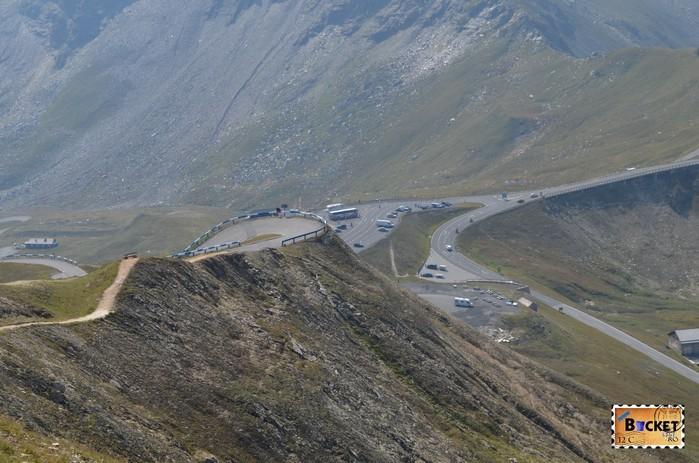 parcare Fuscher Törl de pe drumul alpin Grossglockner