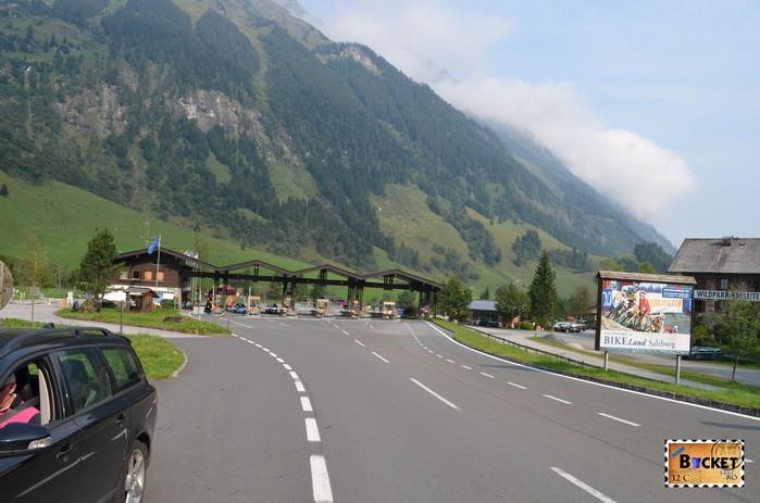 statia de taxare Ferleiten de pe drumul Grossglockner High Alpine Road - Großglockner Hochalpenstraße,