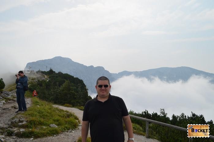vârful  Kehlstein foarte aproape de Cuibul de vulturi a lui Hitler - Eagle's Nest.