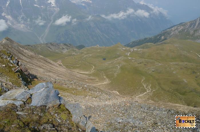 versantul nordic de la Edelweißhütte din Edelweißspitze - vârful Edelweiss
