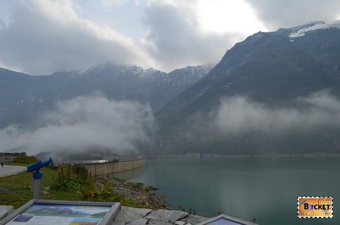 Barajele de la Kaprun - lacul de acumulare Mooseboden