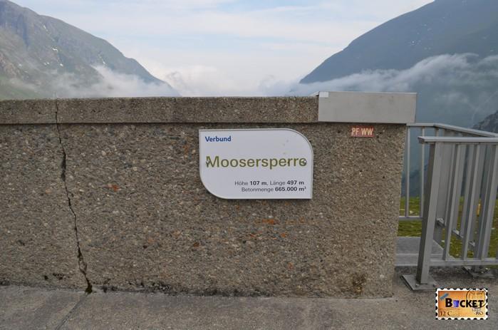 Barajele de la Kaprun - barajul Moosersperre