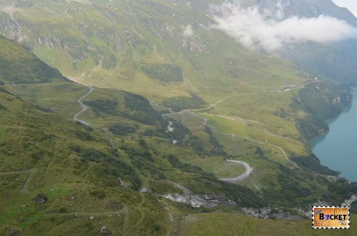 Barajele de la Kaprun - drum spre lacul de acumulare Mooserboden