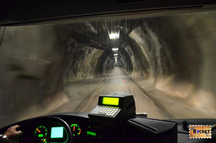 Spre barajele de la Kaprun prin Schranbachtunnel