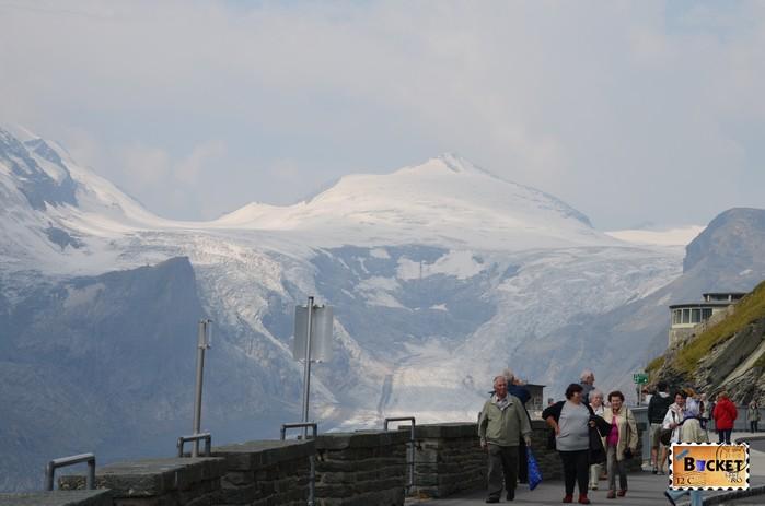 drum Grossglockner  si ghețarul Pasterze