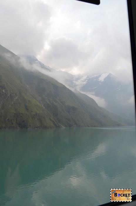 drumul Mooserboden Strasse si lacul de acumulare Wasserfallboden