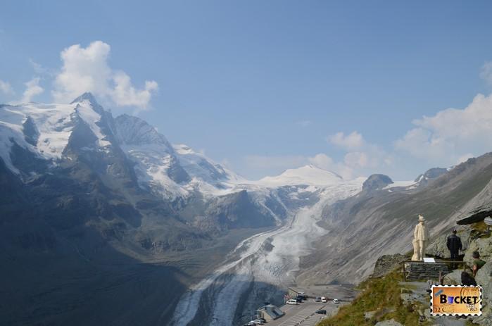 ghețarul Pasterze de langa varful Grossglockner