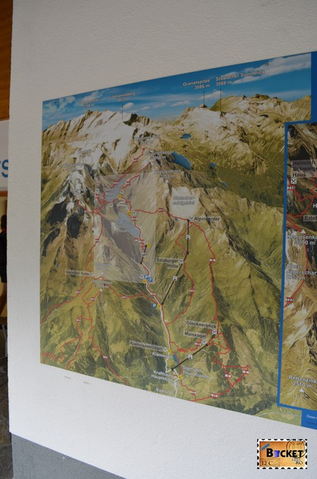 panouri informative despre barajele de la Kaprun - Information about Alpine Reservoirs in Kaprun
