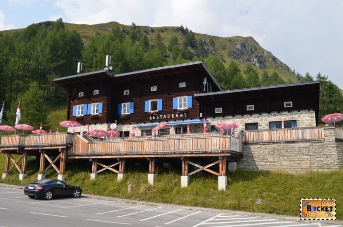terasa pe drumul alpin Grossglockner