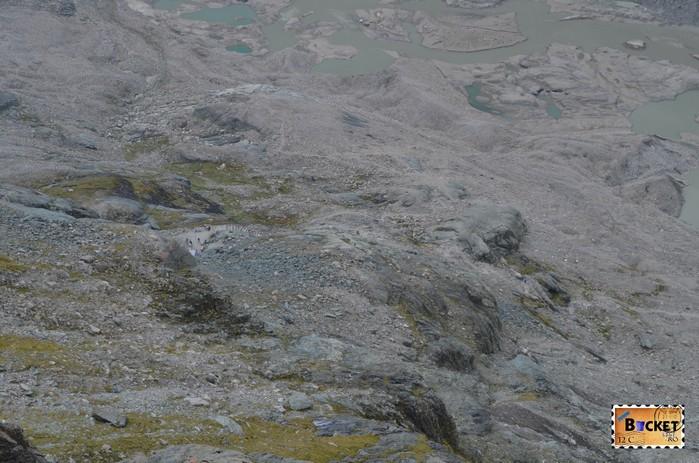 traseul de la Gletscherbahn spre ghetarul Pasterze