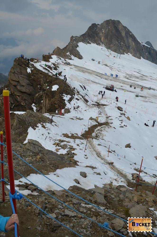 ghețarul Kitzsteinhorn vazut de pe traseul spre  Gipfelwelt 3000