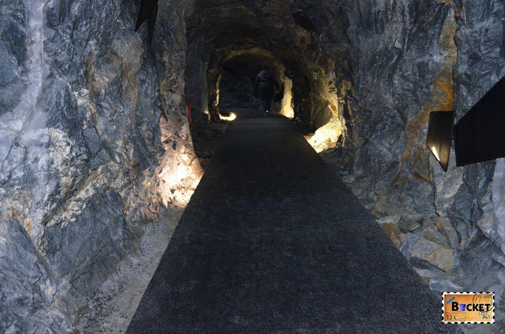 Panorama tunnel - de la Gipfelwelt spre Gipfelstation