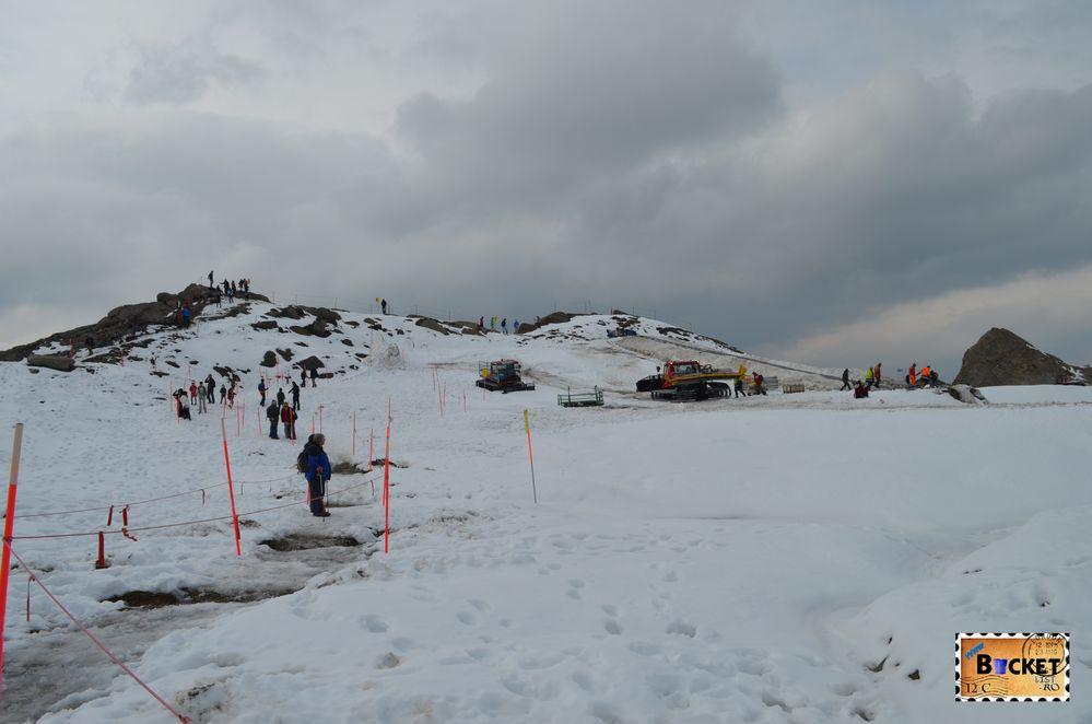 Pe ghețarul Kitzsteinhorn de langa Kaprun