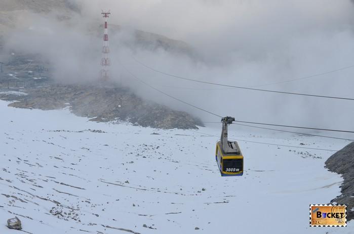 Telecabina Gipfelbahn si cel mai mare pilon din lume