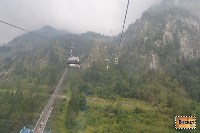 Telecabina Panoramabahn spre varful Kitzsteinhorn