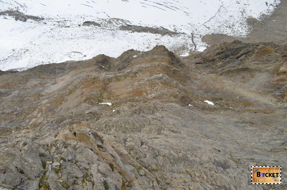 gheţarul Maurerkees vazut de pe marginea prapastie spre Gipfelwelt 3000