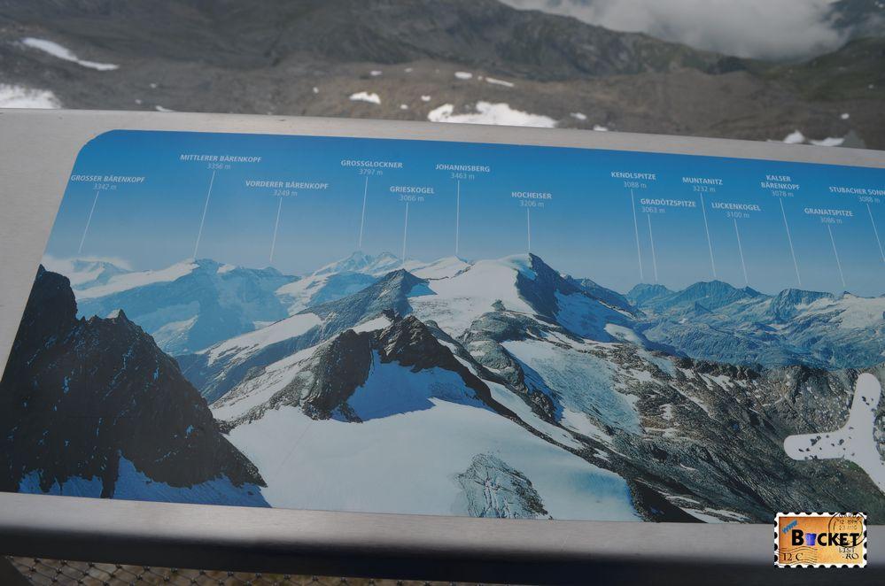 harta pe platforma Glocknerkanzel - Gipfelwelt